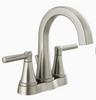 "Delta 25891LF-SP Becker SpotShield Stainless Steel 4"" Centerset Bath Faucet"