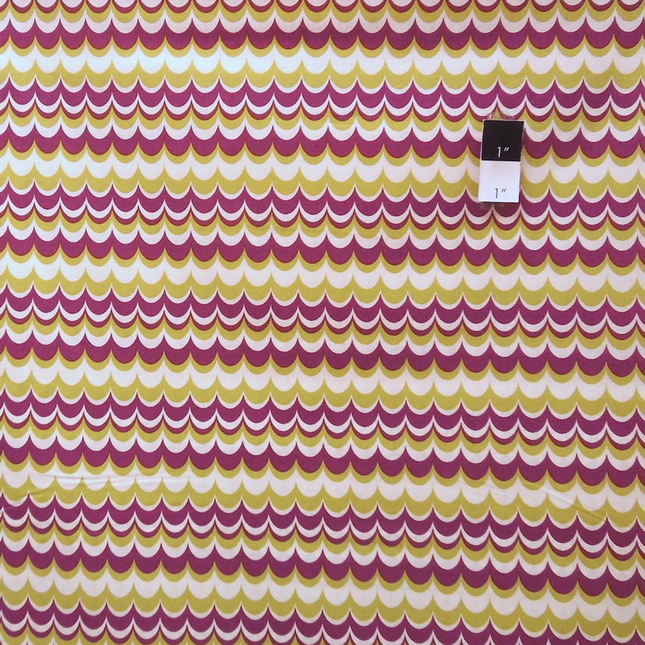 Joel Dewberry JD56 Heirloom Marbled Stripe Gold Cotton Fabric By Yd