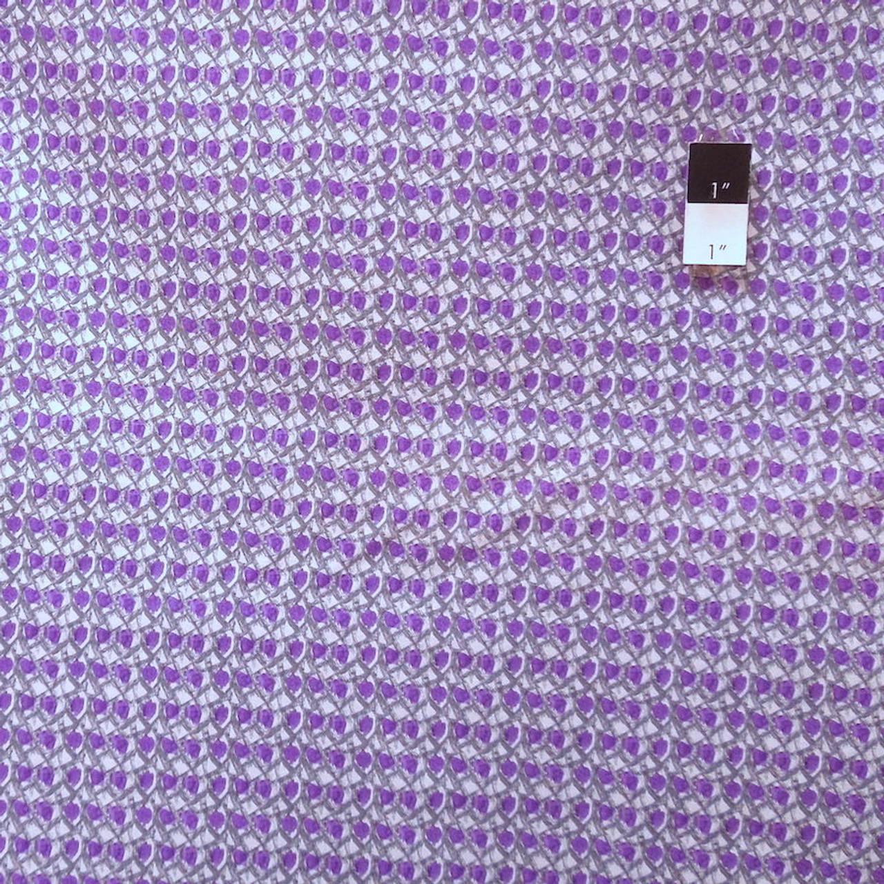 Art Of Possibility AP27 Jazz City Fence Purple Cotton Fabric