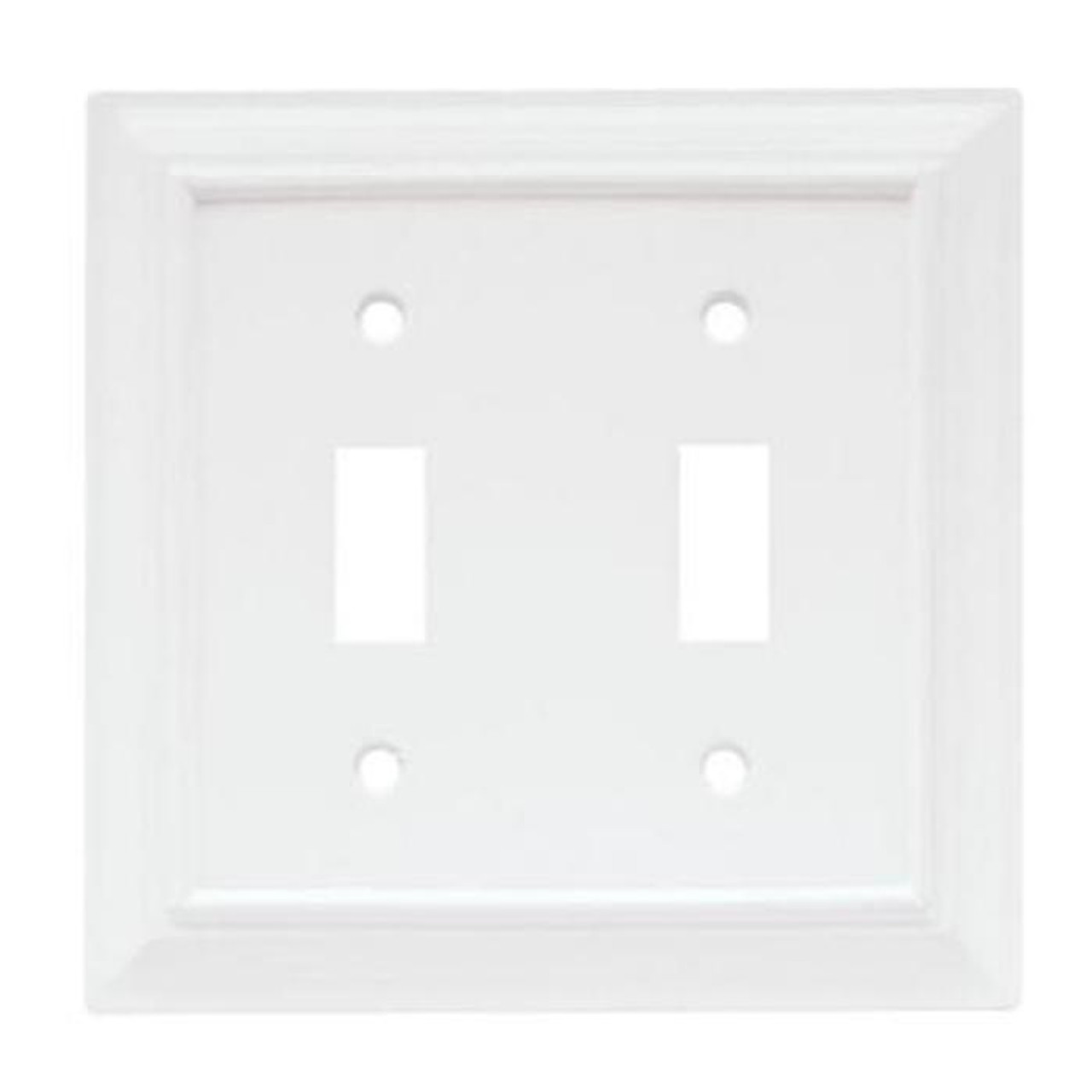 W10763-W White Architect Double Switch Wall Cover Plate
