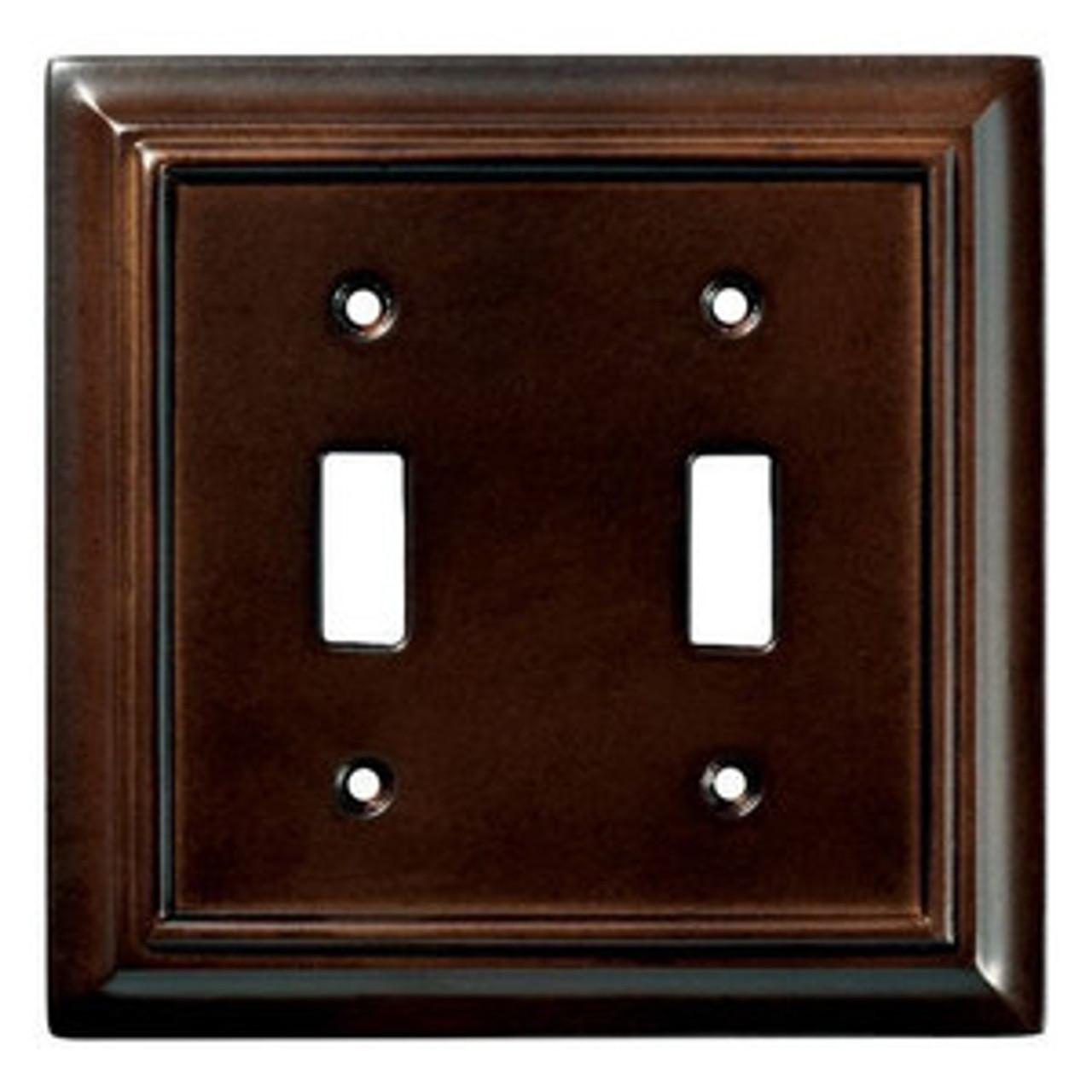 085-03-1462  Architect Espresso Double Switch Combo Cover Plate
