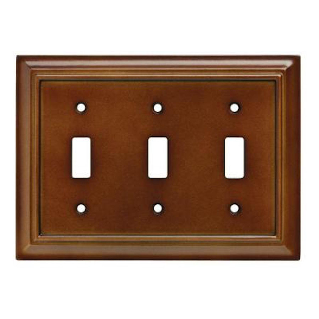 W10764-SDL Brown Architect Triple Toggle Switch Cover Plate