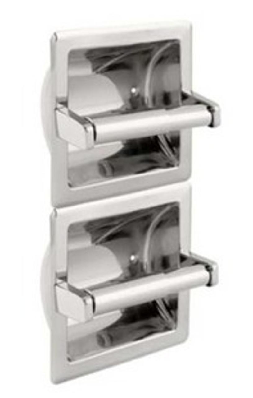Franklin Brass Commercial Bath 979 Recessed Double Toilet Tissue Dispenser