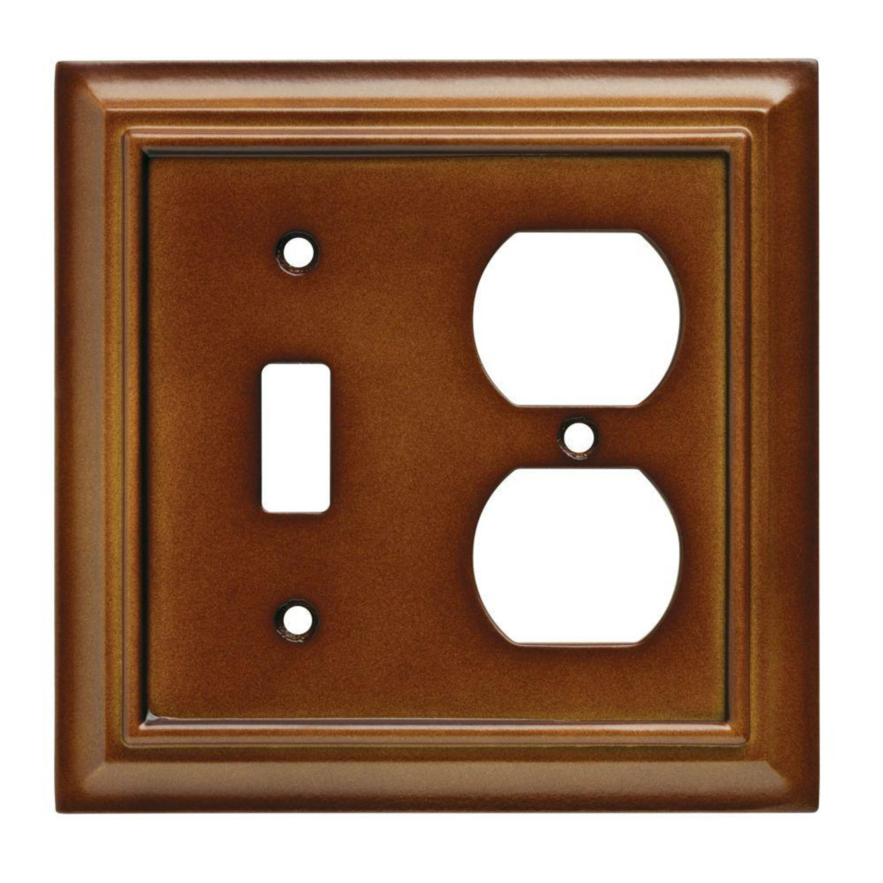 W10770-SDL Brown Architect Single Toggle Switch / Duplex Cover Plate