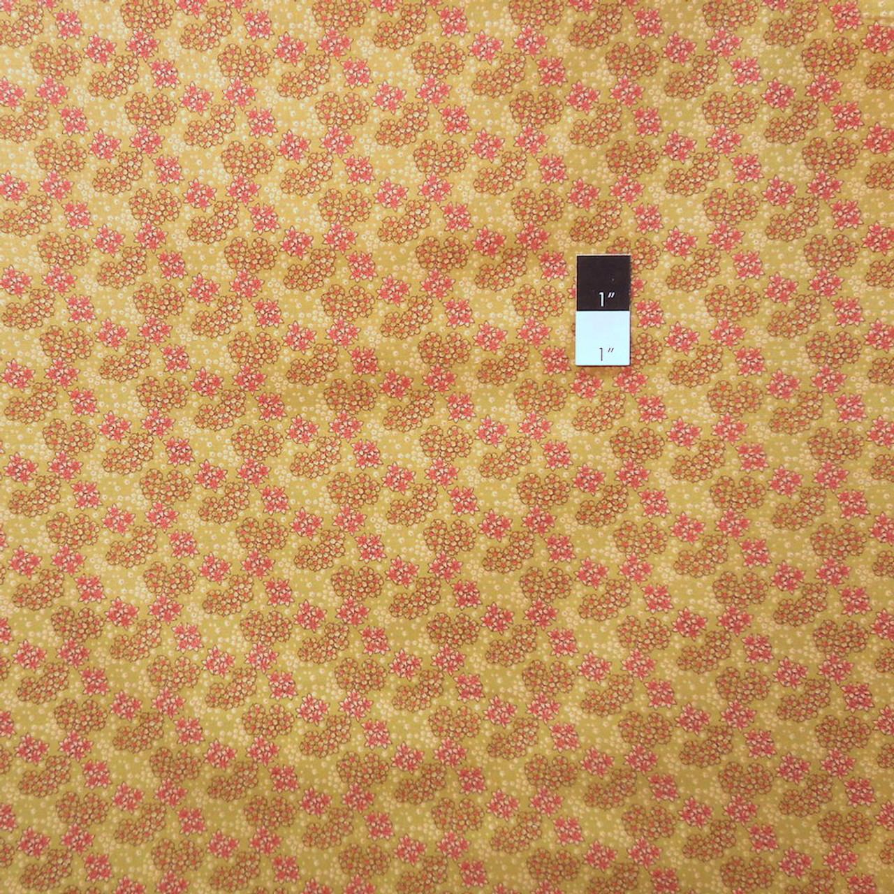 Victoria and Albert PWVA037 Vintage Florals Floral Spray Honeydew Cotton Fabric By Yard