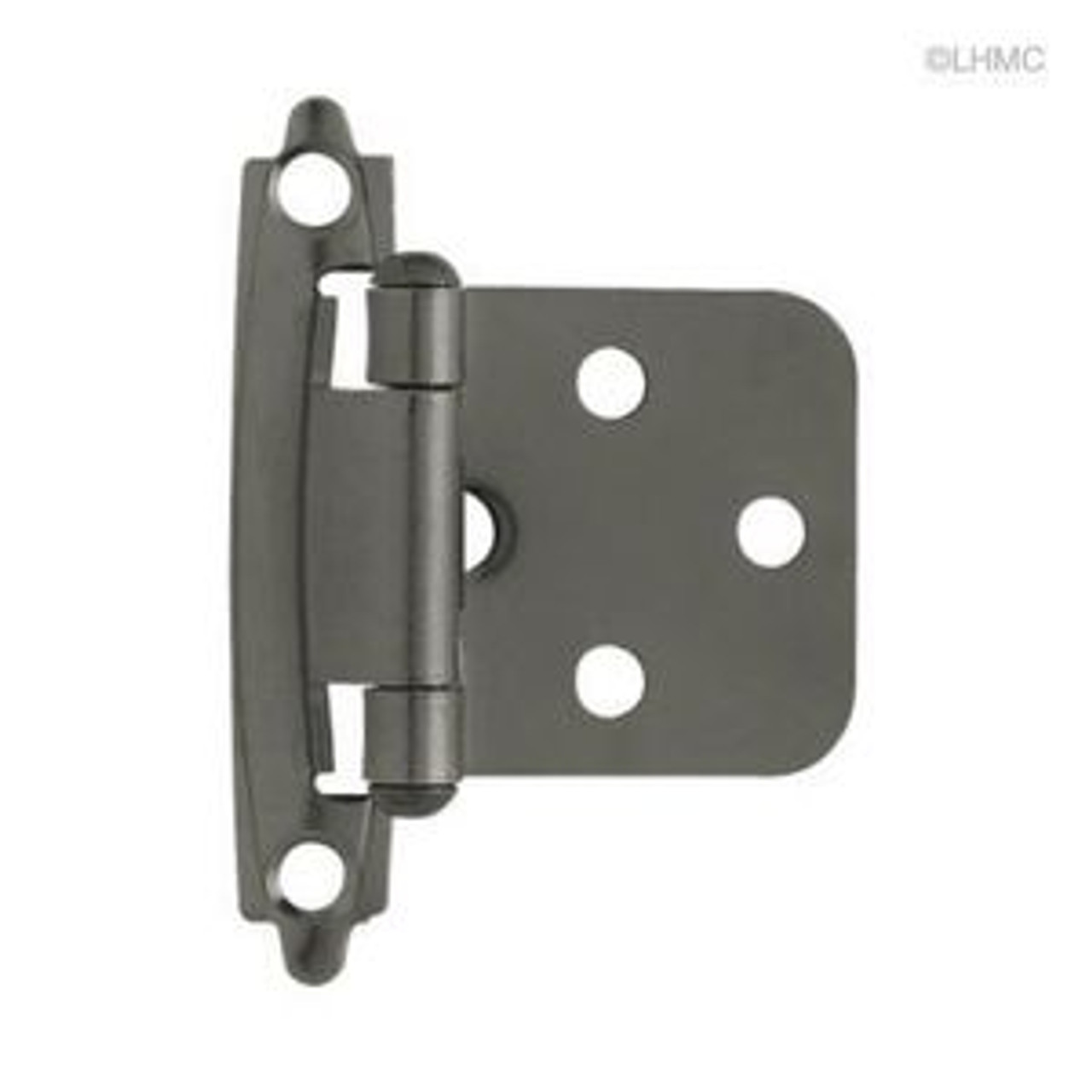H0103BC-BLN Black Nickel Self Closing Overlay HInge 2 Pack