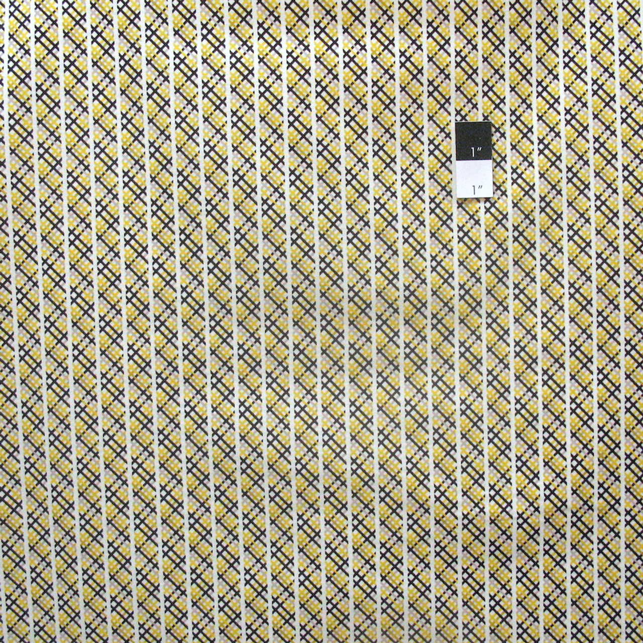 Denyse Schmidt Hadley Multi Plaid Fabric in Sunflower PWDS076 100/% Cotton