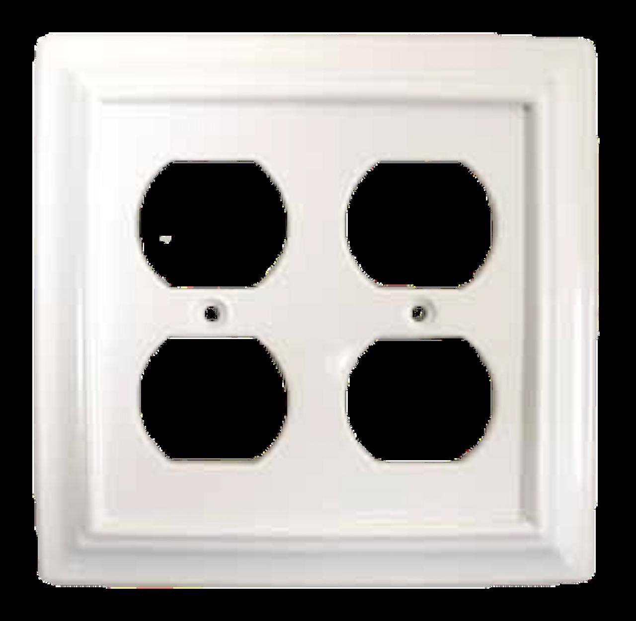 64618 White Architect Double Duplex Cover Plate