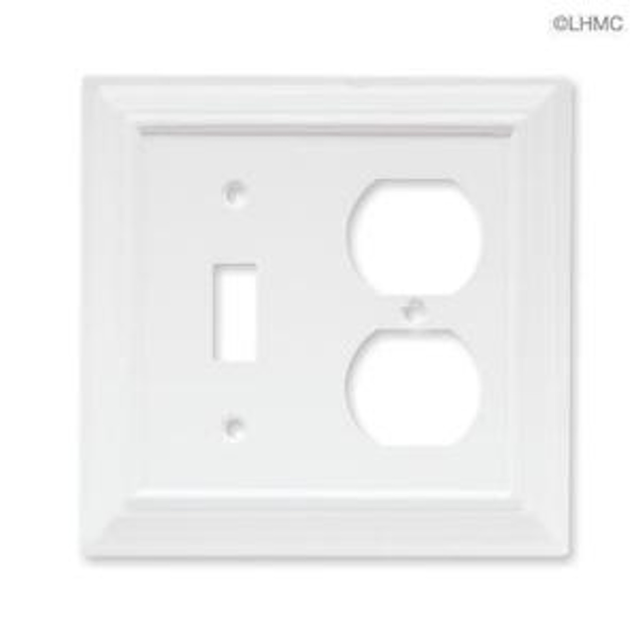 64544 White Architect Single Switch / Duplex Cover
