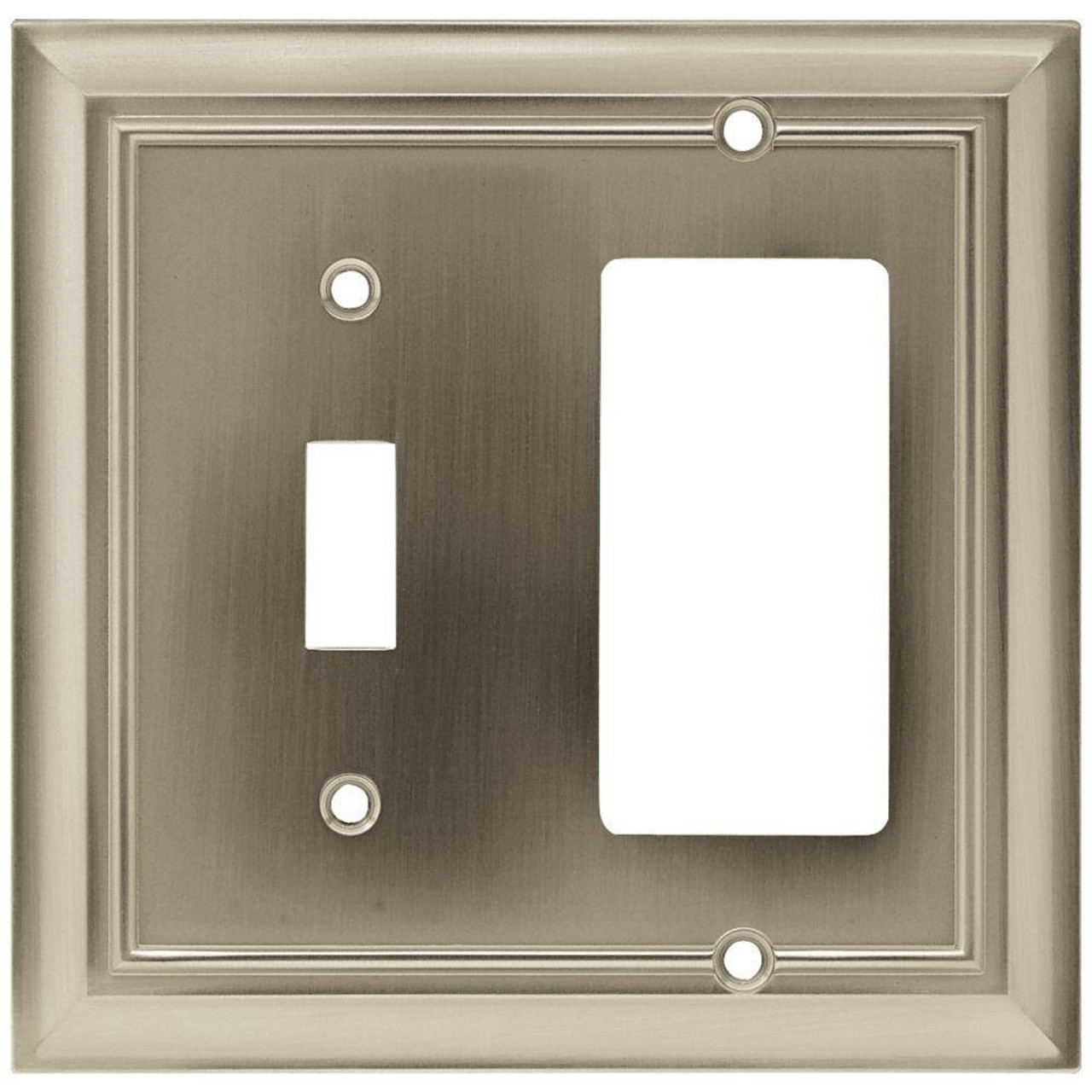 W10601-SN Architect Satin Nickel Switch / GFCI Combo Cover Plate