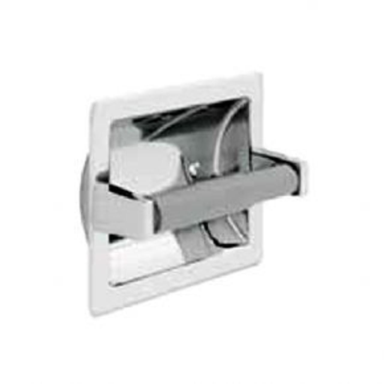 Commercial Bath 807b Recessed Toilet Tissue Dispenser Chrome