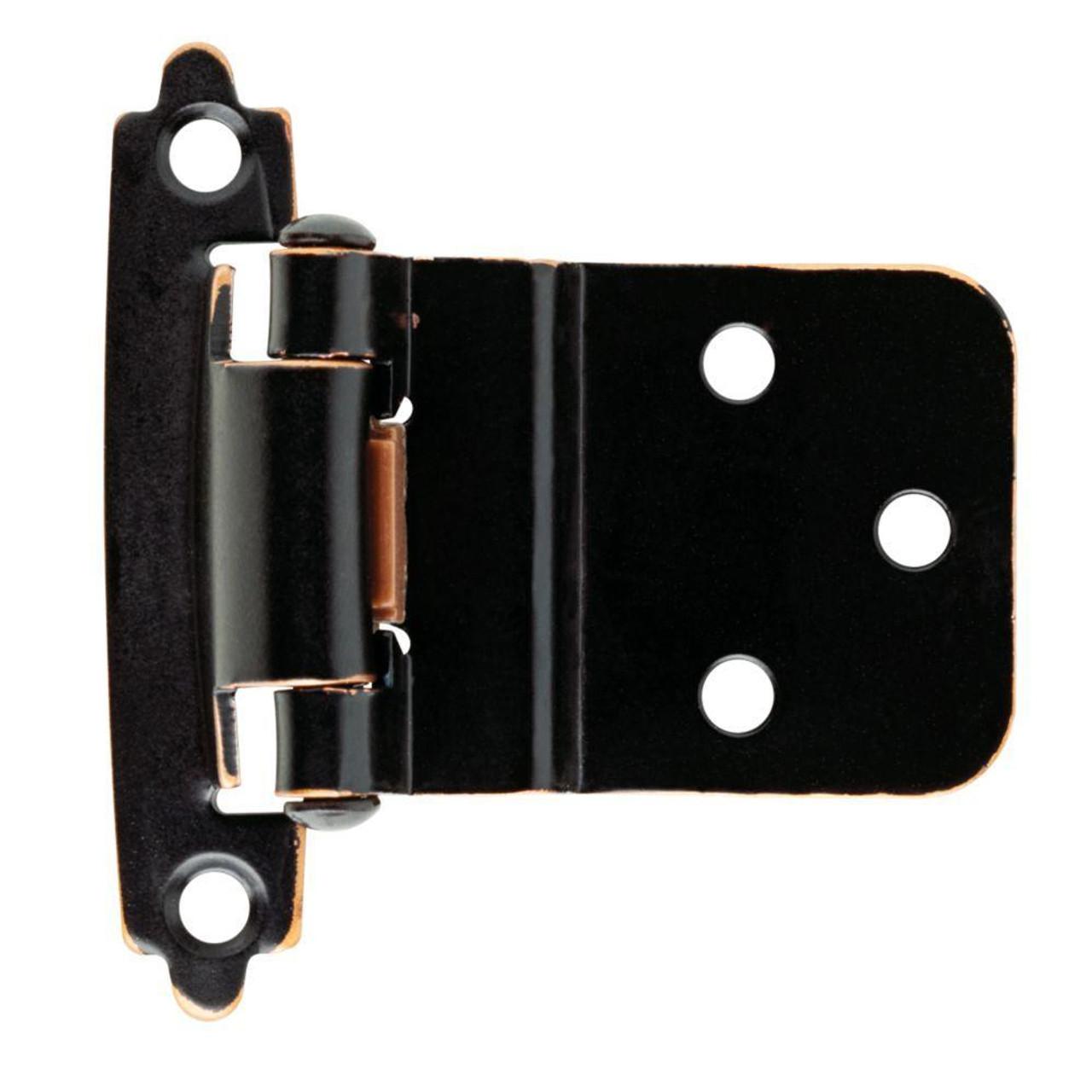"H0104AC-VBC 3/8"" Self Closing Inset Hinge Bronze & Copper Set of 2"