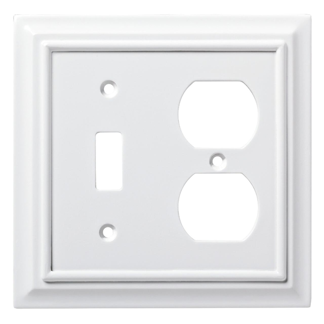 W10770-PW Pure White Architect Single Switch / Duplex Cover
