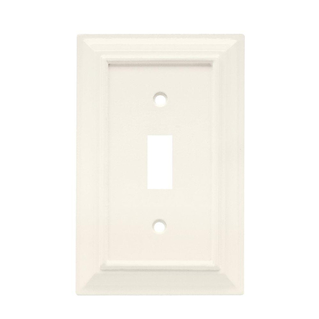 W10762-W White Architect Single Switch Cover Plate