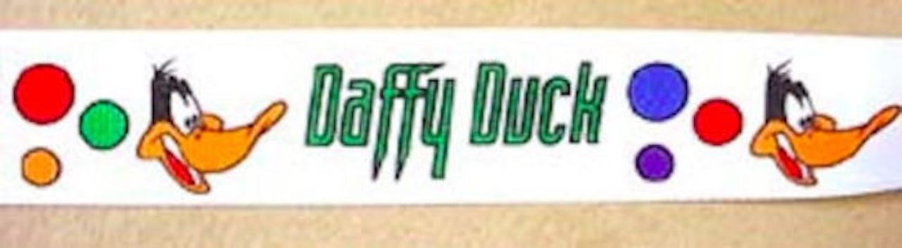 "Daffy Duck Looney Tunes Grosgrain Ribbon 10 Yards 7/8"" Wide"