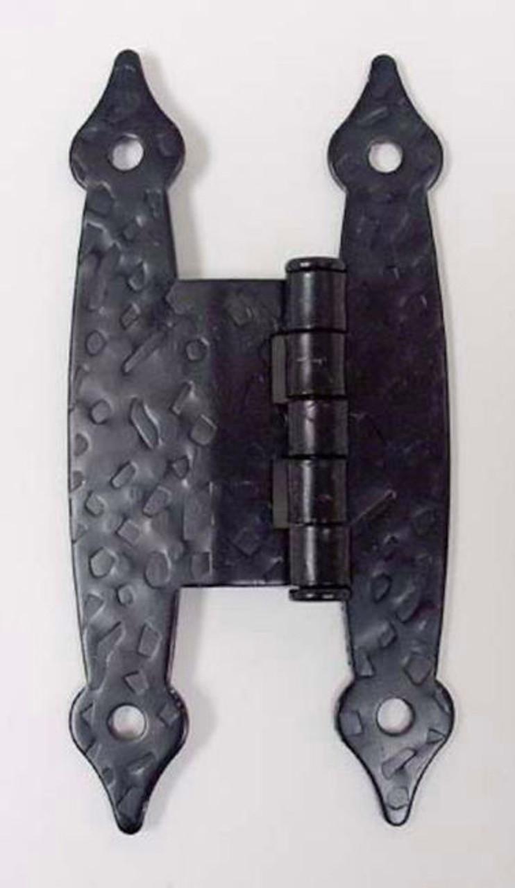"H09050C-BL 3/8"" Offset ""H"" Hammercraft Hinge Flat Black Set of 2"