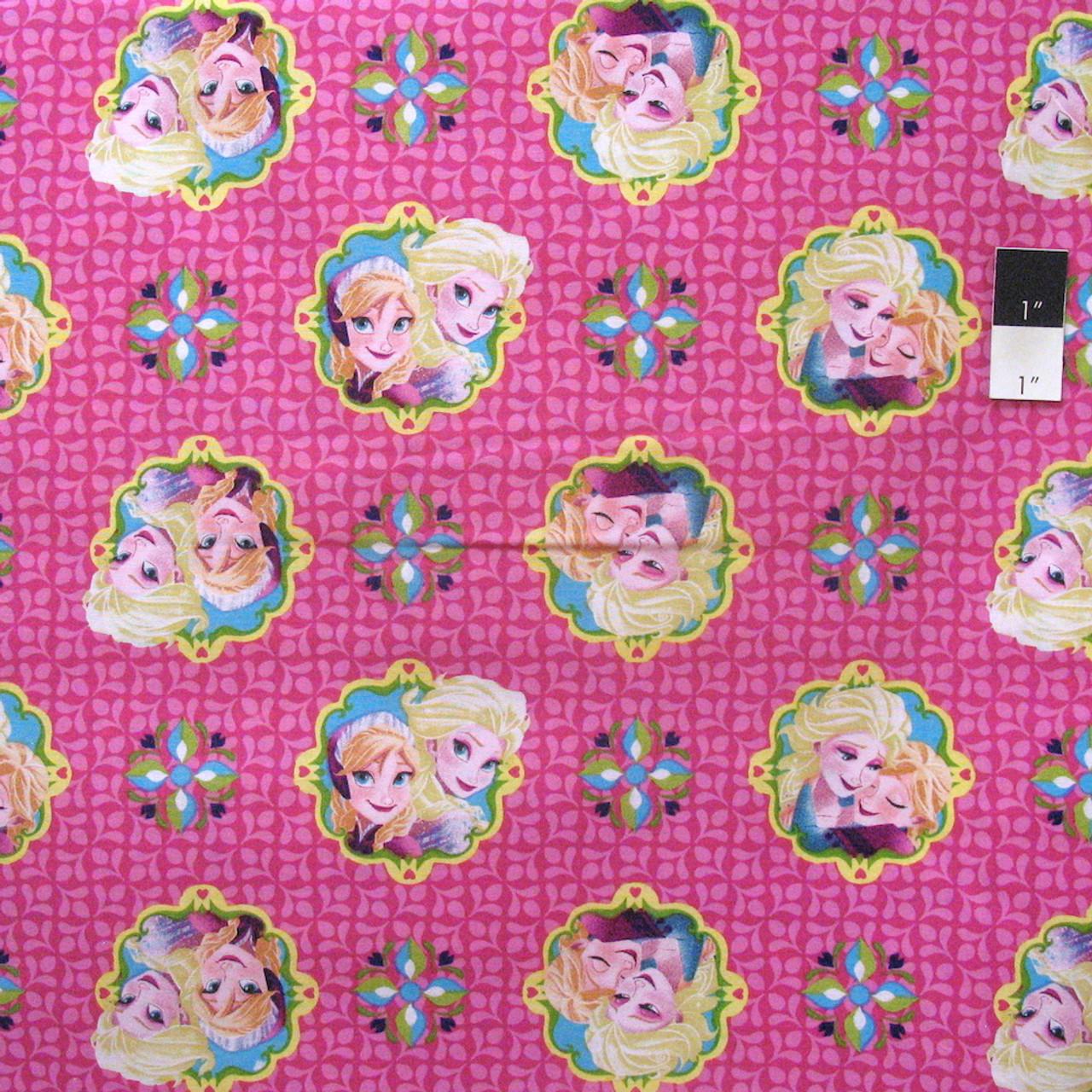 Elsa Framed Springs Creative Disney/'s Frozen 100/% Cotton -Patchwork Fabric