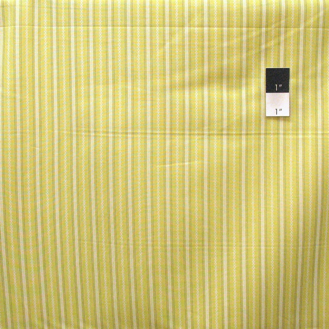 Dear Stella Stripe Citron Quilting Cotton Fabric By Yard