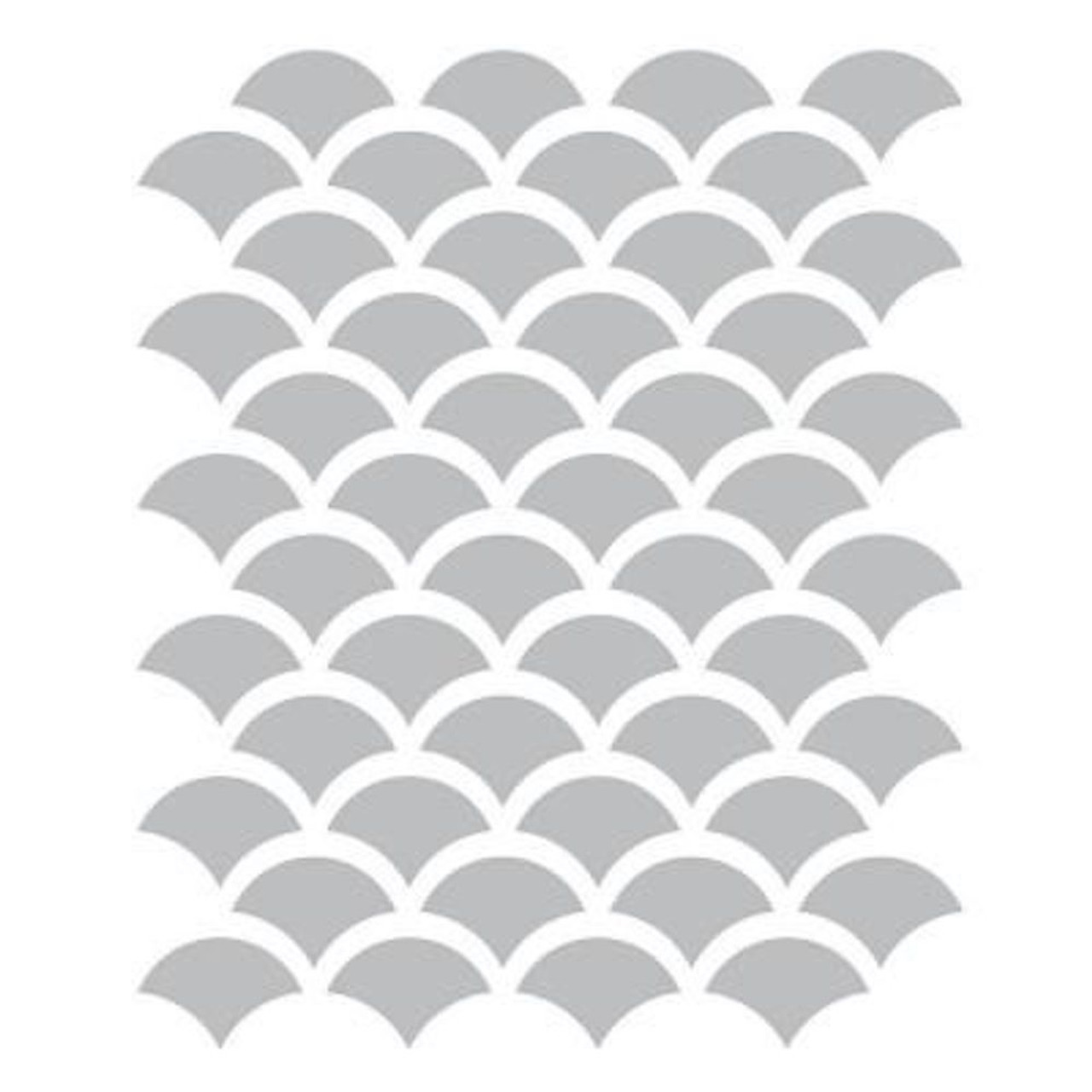 Liberty FSS001-CL 10 in. x 10 in. Vintage Inspired Clear Scales Furniture Stencil