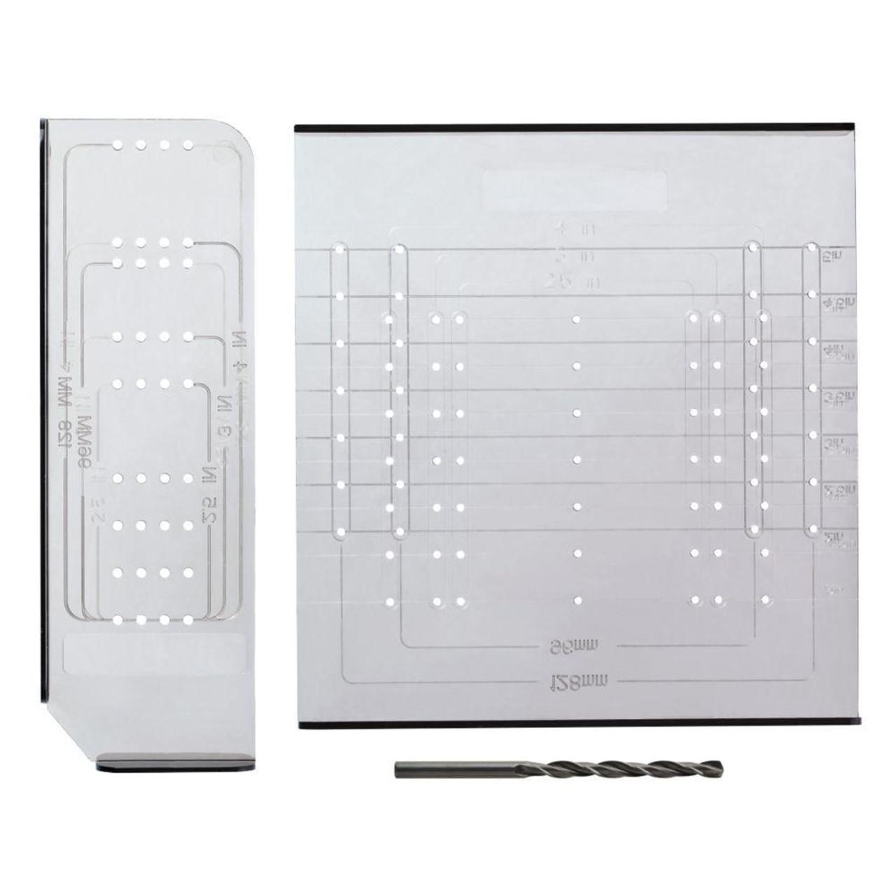 ANO251C-CL Align Right Cabinet Hardware Installation Template Set w/ Drill Bit