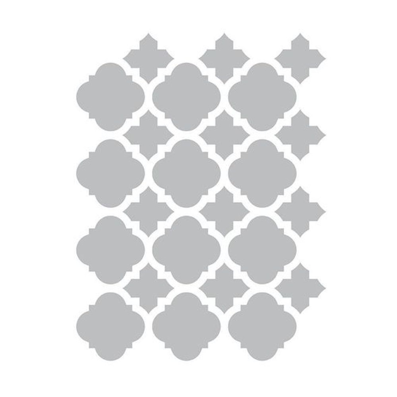 "Liberty SNL002-CL10"" x 10"" Vintage Inspired Clear Quatrefoil Furniture Stencil"