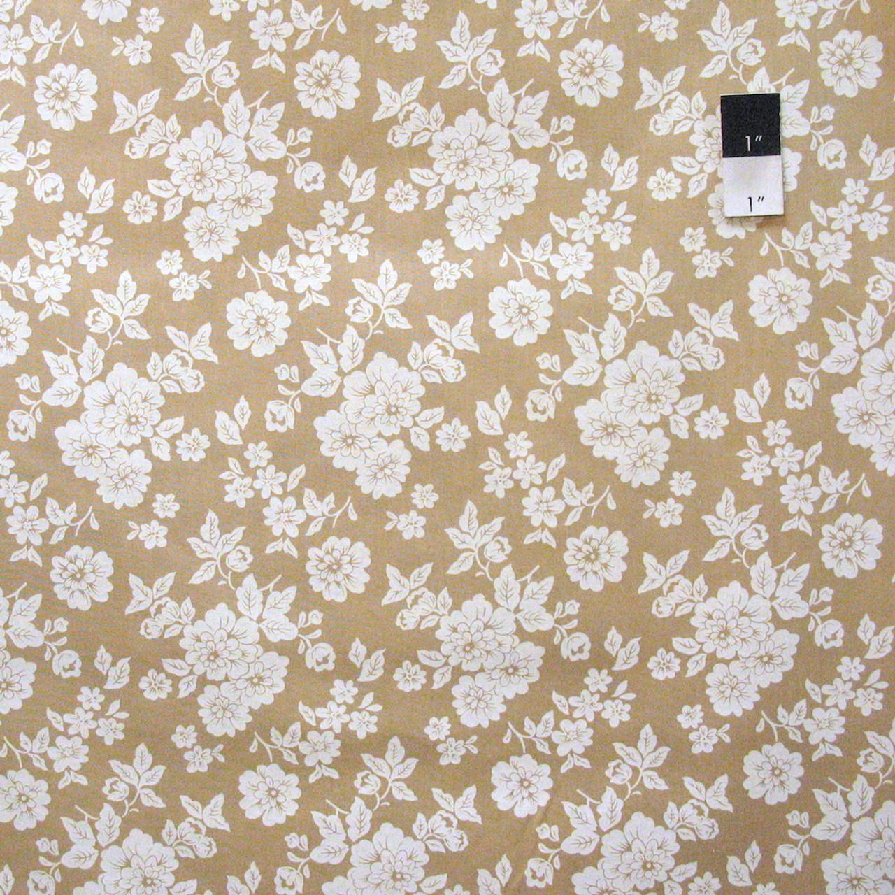 Snapshot BTY Verna Mosquera FreeSpirit Blooming Border Stripe Brown Floral