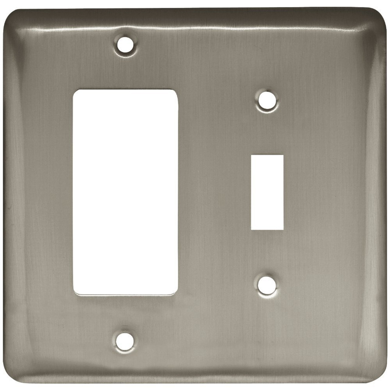 W10590-SN Stamped Satin Nickel Switch / GFCI Cover Plate