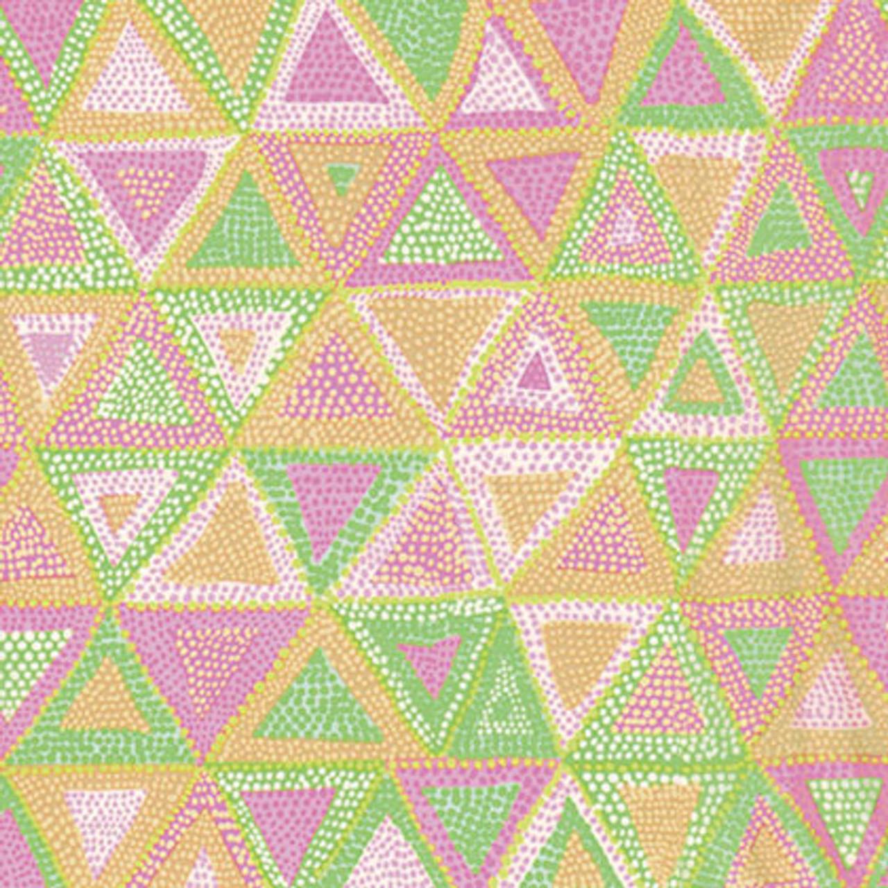 Fat Quarter Rowan Fabric Beaded Tents Pink