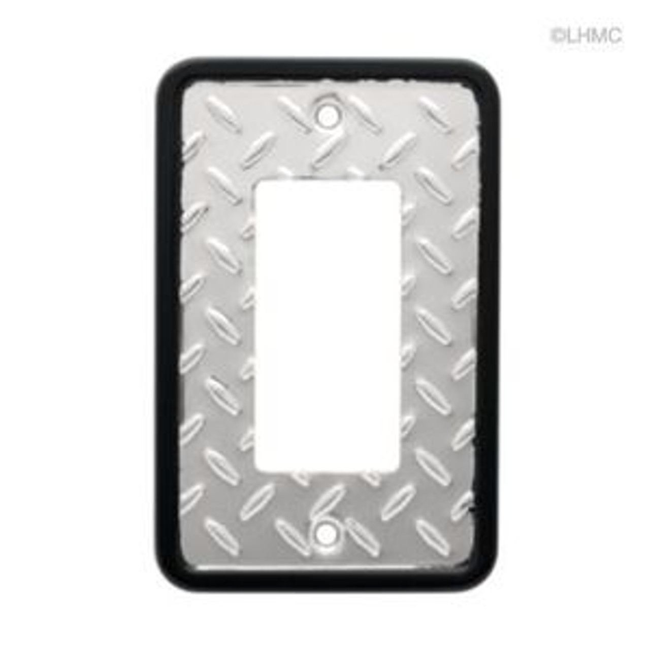 126368 Diamond Plate Single GFCI Cover Plate