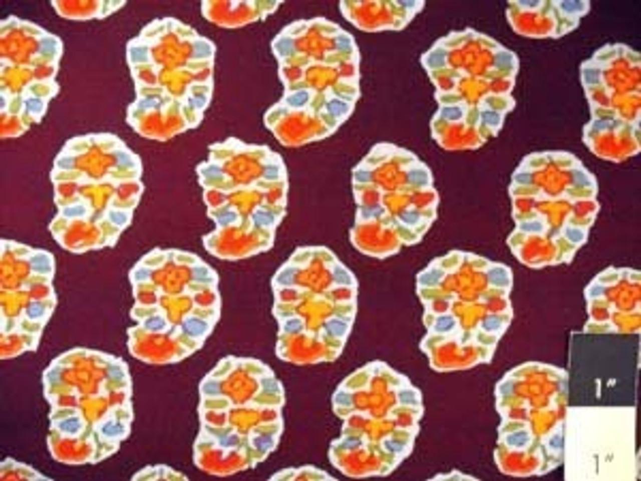 Kaffe Fassett GP75 Asha Prune Quilt Cotton Fabric By The 15 Yard Bolt