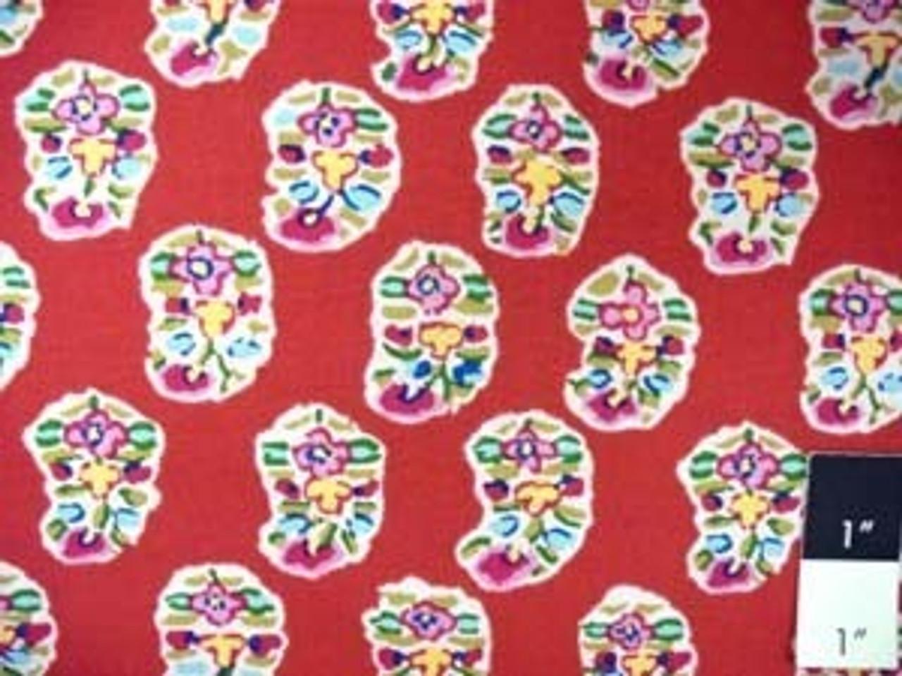 Kaffe Fassett GP75 Asha Wine Quilting Cotton Fabric 15 Yd Bolt