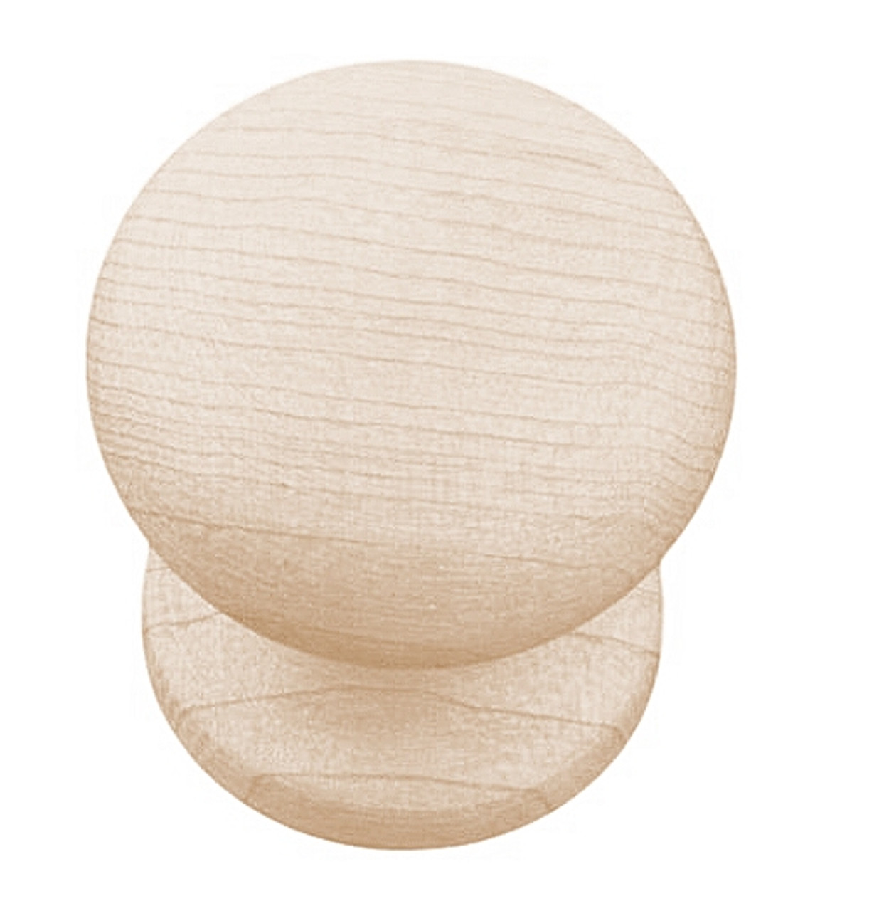 """Liberty PN1051M-UN Maple Spice Unfinished Wood 1"""" Cabinet Drawer Knob LOT OF 100"""