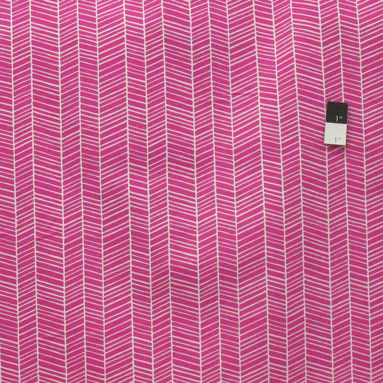 Joel Dewberry PWTC007 True Colors Herringbone Fuchsia Cotton Fabric By Yard