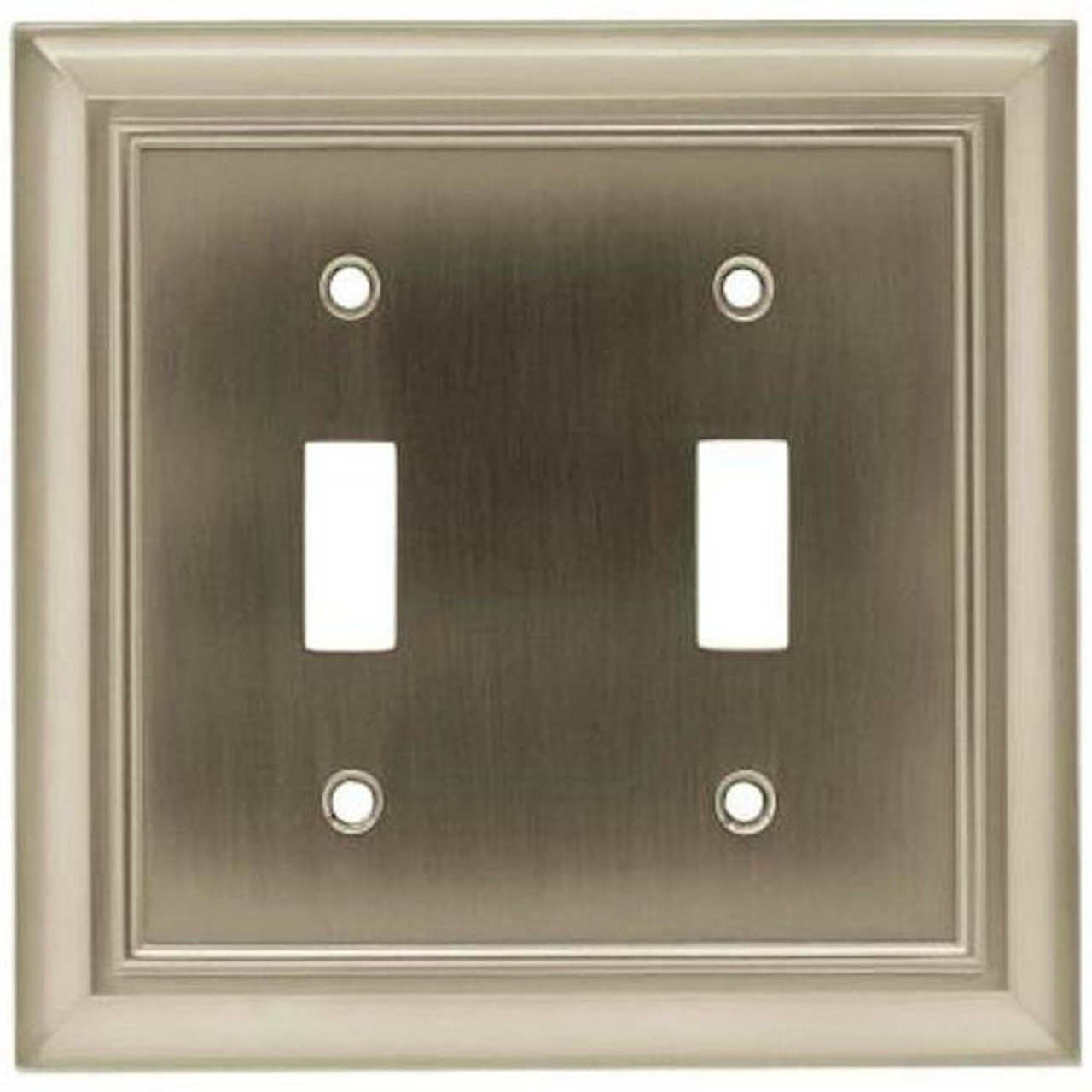 Franklin Brass W35220-SN Architect Satin Nickel Double Switch Cover Plate