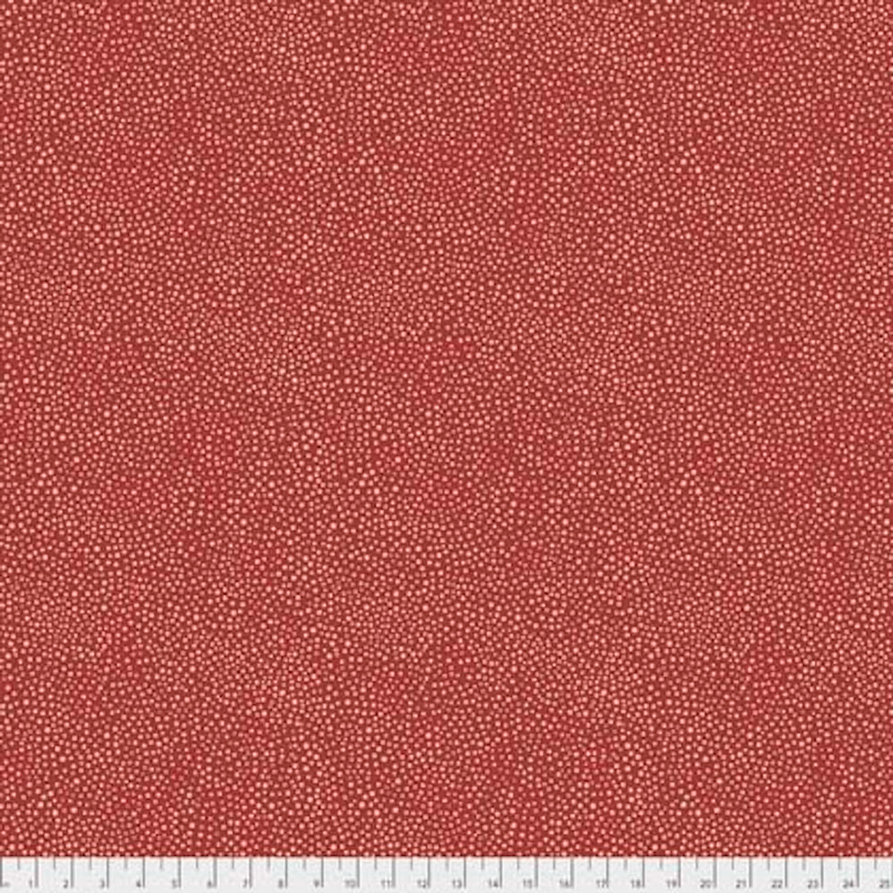 Morris & Co. Kelmscott PWWM008 Seaweed Dot Red Cotton Fabric By Yd
