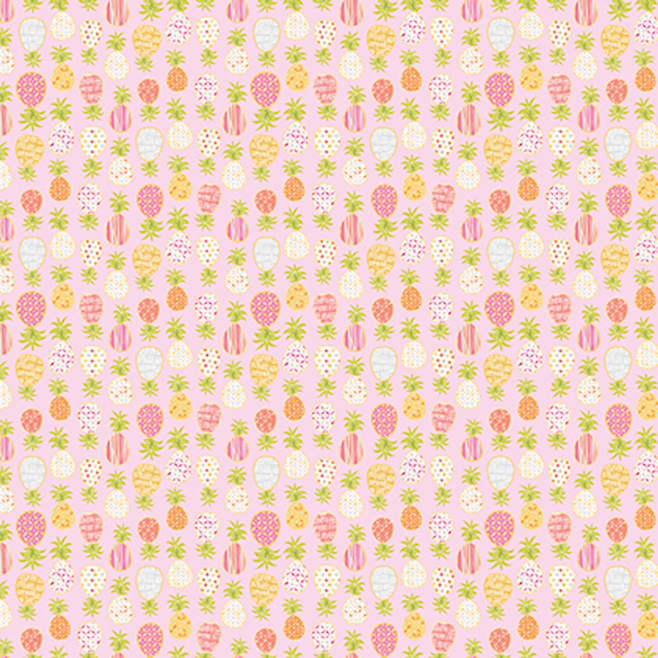 Dena Designs Haute Zahara PWDF273 Pineapple Mustard Cotton Fabric By Yard