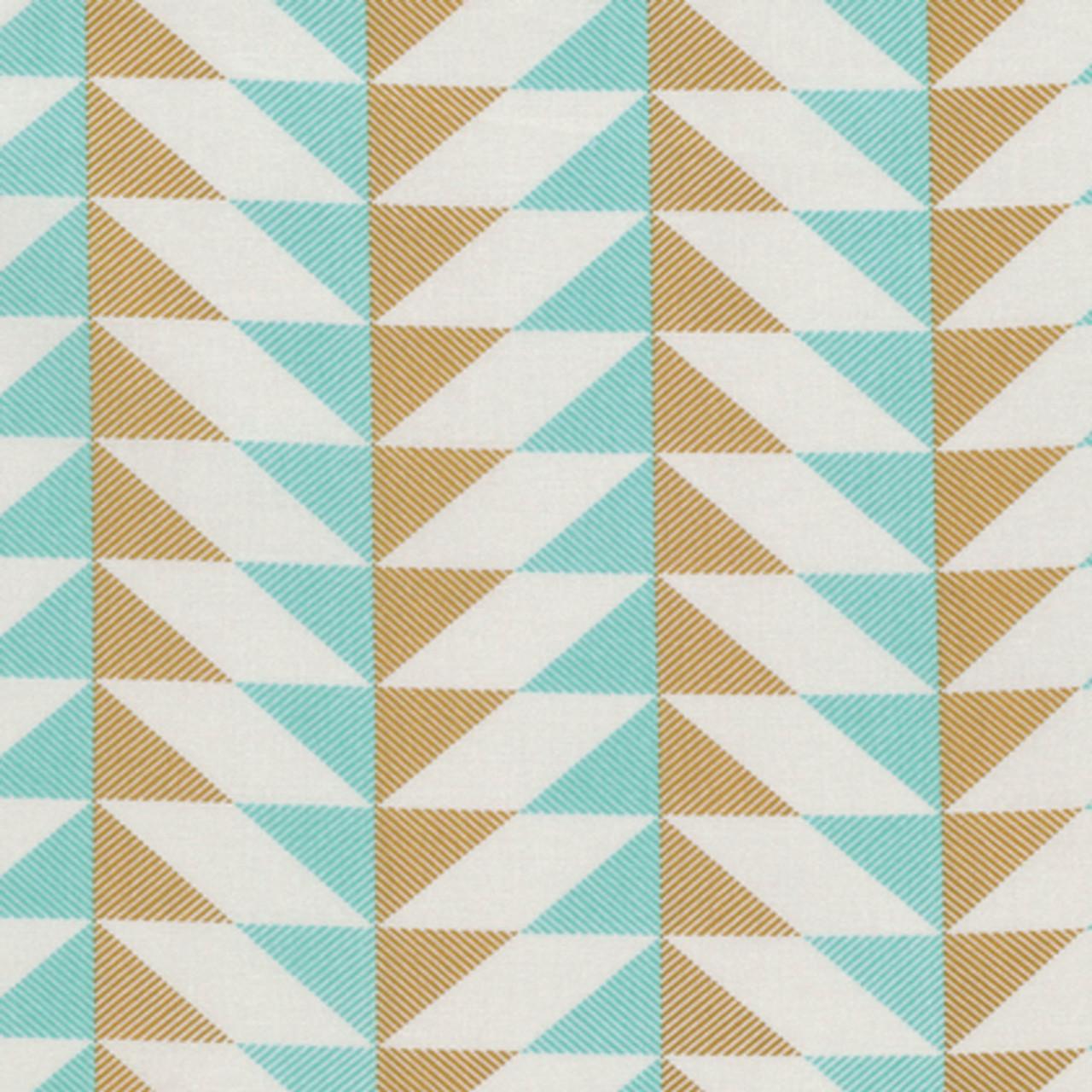 Joel Dewberry PWJD142 Modernist Arrowhead Aqua Cotton Quilting Fabric By Yard