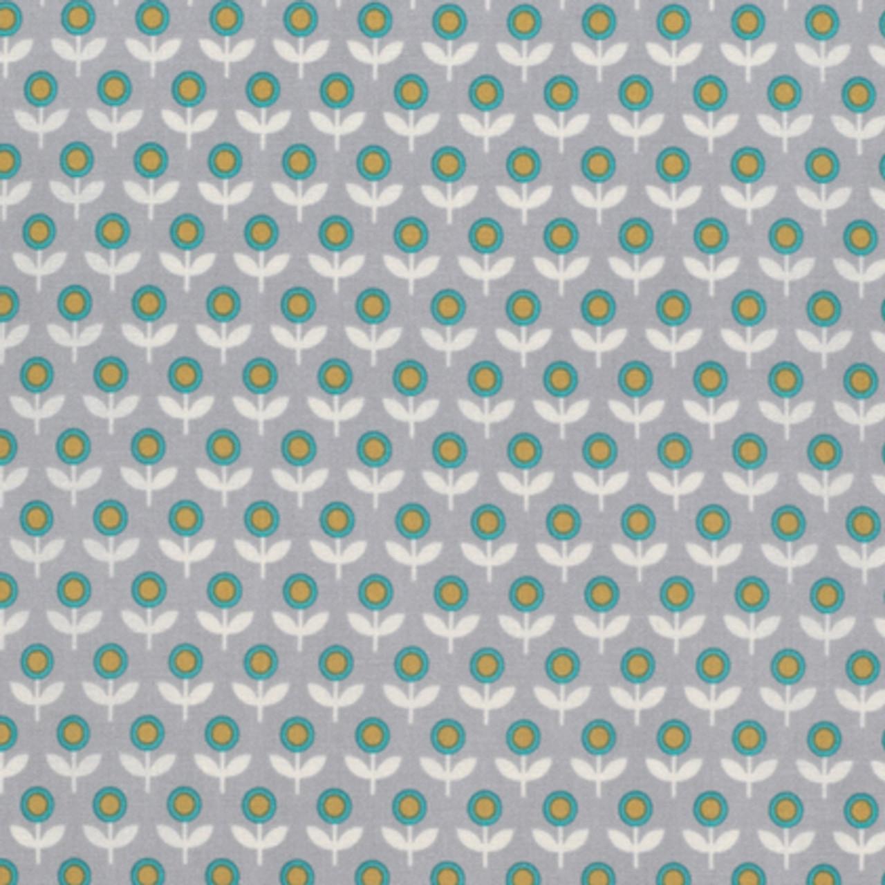 Joel Dewberry PWJD145 Modernist Tulip March Smoke Cotton Quilting Fabric By Yard