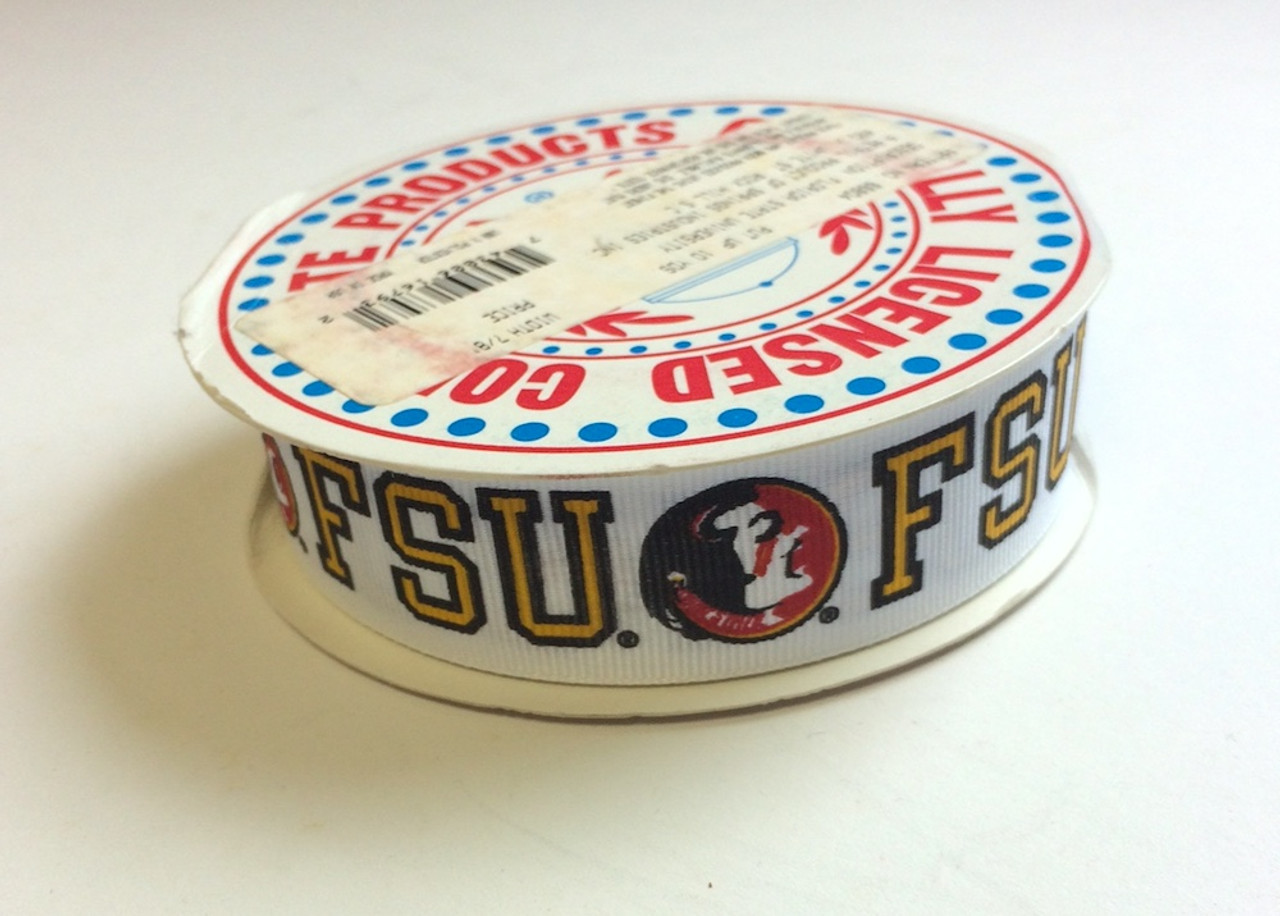 "FSU Florida State University Grosgrain Ribbon 10 Yds 7/8"" Wide"