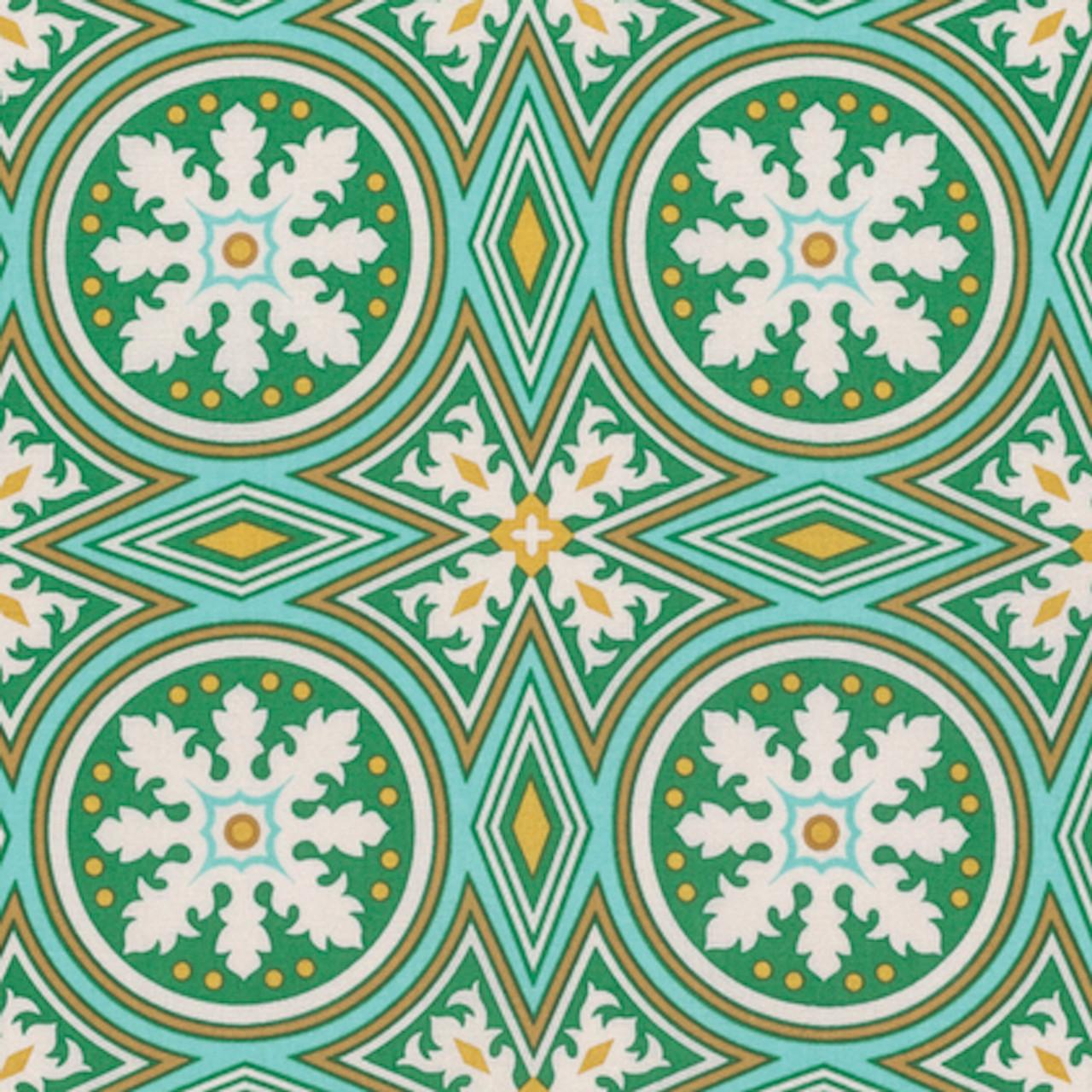 Joel Dewberry PWJD144 Modernist Tolson Emerald Cotton Fabric By Yard