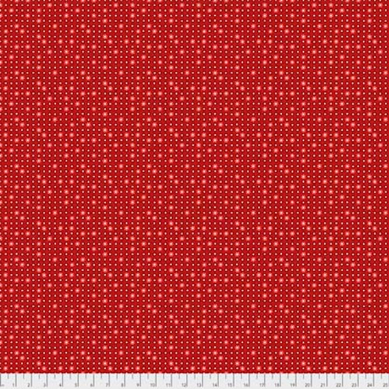 Coats PWCC013 Daisy Daze Daisies Red Cotton Quilting Fabric By Yd