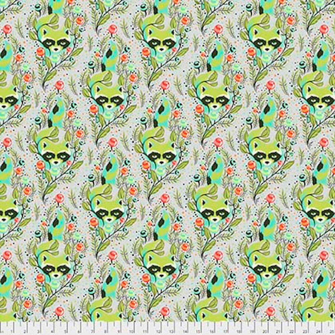 Tula Pink PWTP037All Stars Racoon Agave Cotton Fabric By Yard