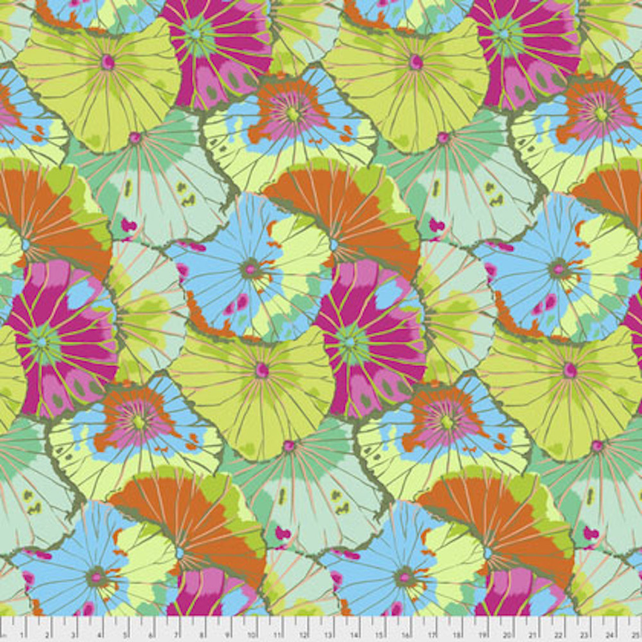 Kaffe Fassett GP29 Lotus Leaf Lime Cotton Fabric By The Yard