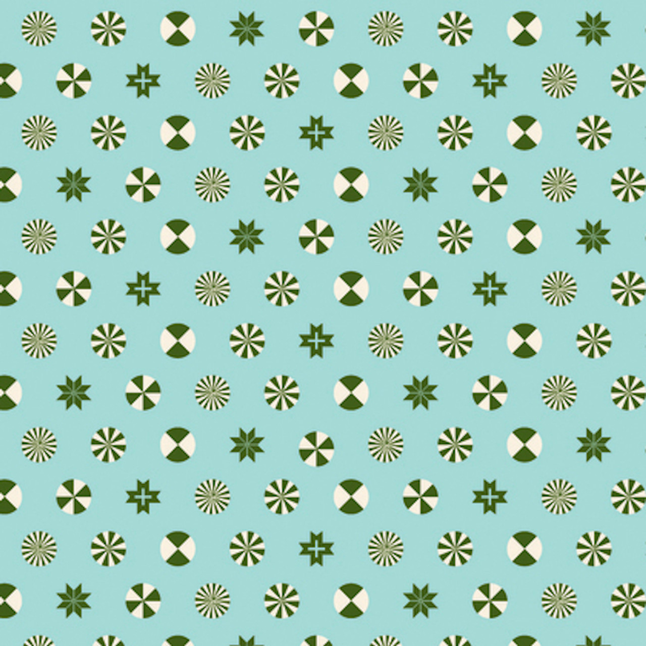 Tula Pink PWTP108 Holiday Homies Peppermint Stars Pine Cotton Fabric By Yard