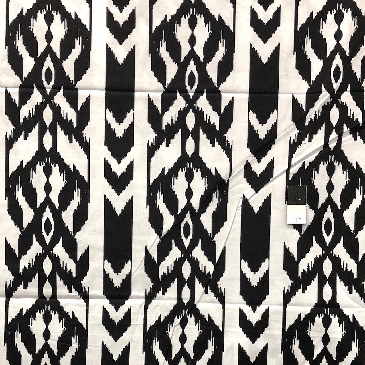 Genuine African Printex Black & White Collection Stripe Cotton Fabric By Yard