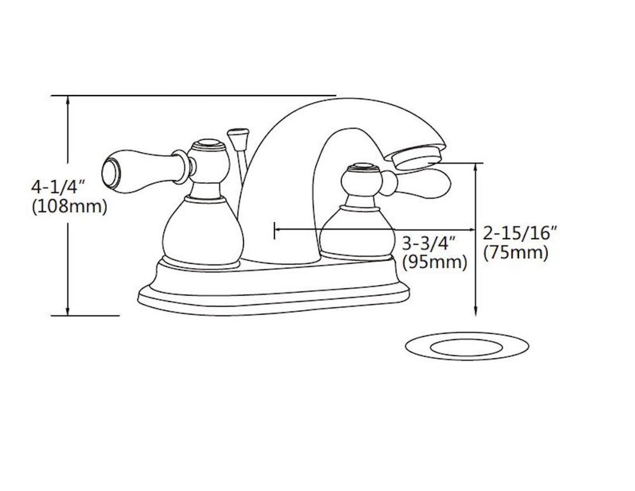 """FBX Chapman 83H15-ORB-A Bath 2 Handle 4"""" Centerset Faucet Oil Rubbed Bronze"""