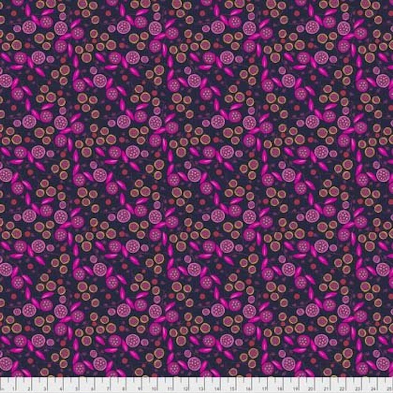 Shannon Newlin Garden Dreams PWSN0014 Very Berry Dark Cotton Fabric By Yd