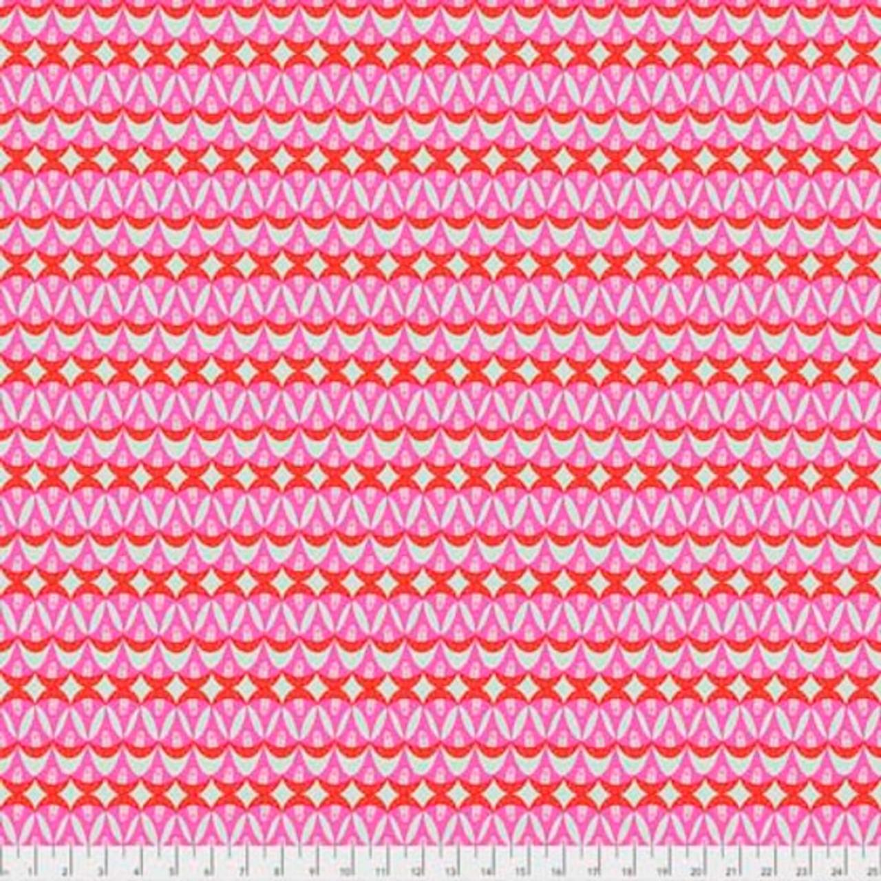 Shannon Newlin Garden Dreams PWSN0015 Watermelon Pink Cotton Fabric By Yd