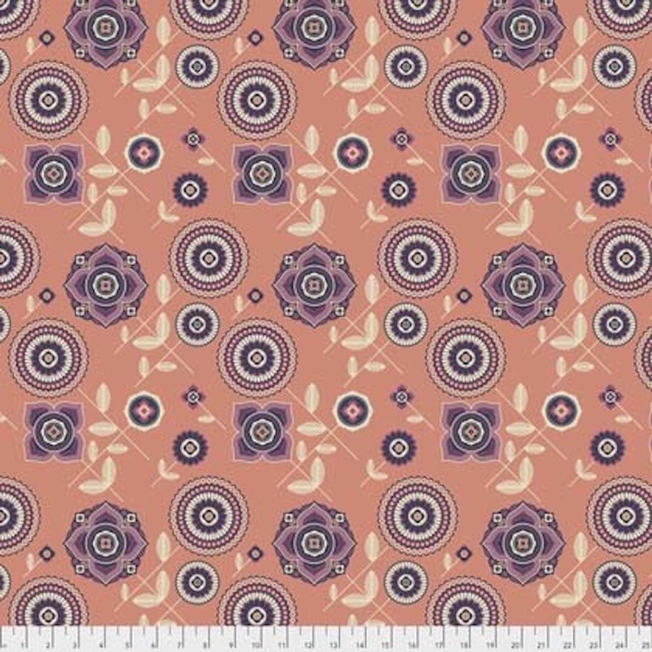 Joel Dewberry Avalon PWJD154 Delphina Orange Cotton Fabric By Yd