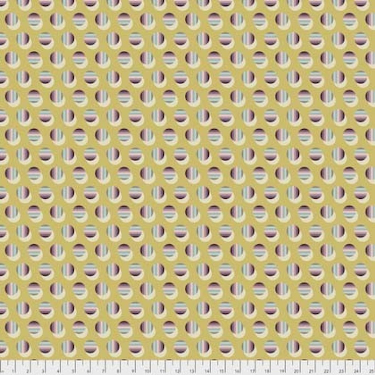Joel Dewberry Avalon PWJD160 Poka Stripe Blush Cotton Fabric By Yd